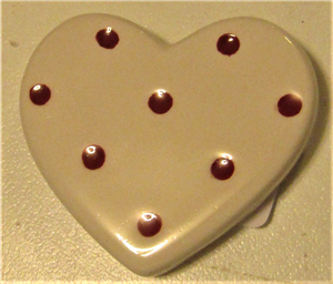 Magnet coeur pois rouge