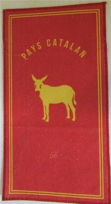 Lavette 21x41 Burro Catalan fond rouge Pays Catalan 66