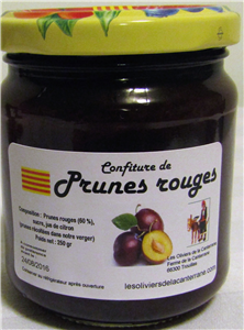 Confiture prunes rouges 250gr