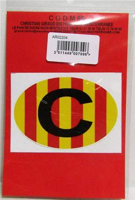 Sticker ovale petit C catalan