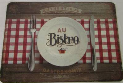 Set de table au bistrot 30x42