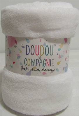 Plaid douceur blanc