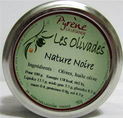 Olivade noire nature