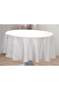 Nappe ronde Ombra blanc