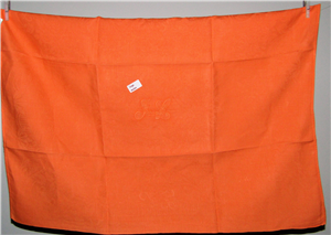 Linge ancien coton orange JL serviette de table ou torchon