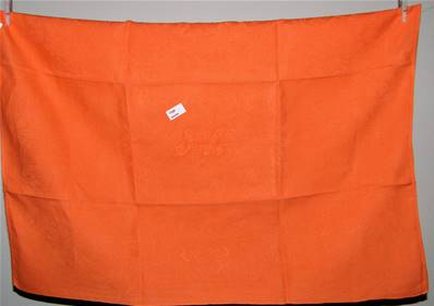 Linge ancien métis orange JL serviette de table ou torchon