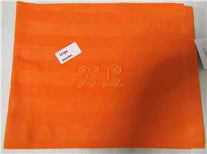 Linge ancien métis orange PB serviette de table ou torchon