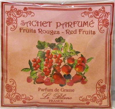 Sachet parfumé fruits rouges