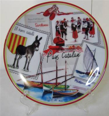 Assiette de collection + support Pays Catalan