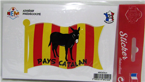 Sticker drapeau pays catalan