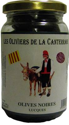 Olives Lucques noires 200gr
