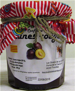 Confiture prunes rouges 350gr
