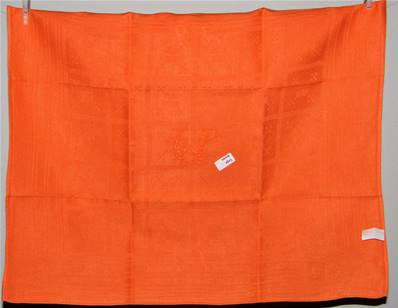 Linge ancien métis orange LP serviette de table ou torchon