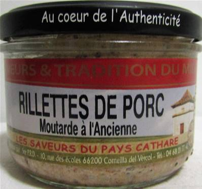 Terrine rillettes de porc moutarde